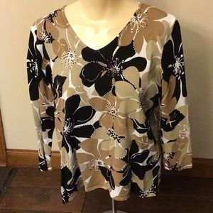 Alfred Dunner Sweater Top Size Medium Petite